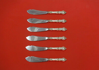 Meadow Rose by Wallace Sterling Silver Trout Knife Set 6pc. HHWS  Custom 7 1/2""