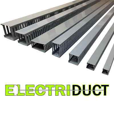 "2""x2"" Open Slot Wire Duct - 6 Sticks - Total Feet: 39FT - Gray - Electriduct"