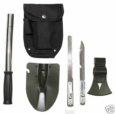 MFH Multifunktionsset Klappspaten, Säge, Beil, Hammer, Messer, Multitool