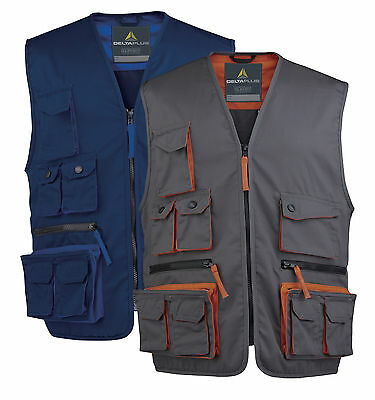 Delta Plus Work Wear Jacket Tool Vest Waistcoat Multiple Pockets Coat (M2GIL)