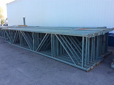 "USED 48""x27'x4"" Old-Style Teardrop Interlaking Uprights For Pallet Rack"