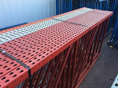 "USED 10' ft Tall x 48""  Old-Style Teardrop Interlaking Uprights For Pallet Rack"