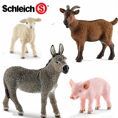 SCHLEICH World of Nature Farm PIGS, GOATS & DONKEYS Choice of 18 all with Tag