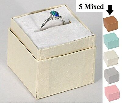 Affordable Lot Of (100) Embossed Ring Boxes 5 Mixed Colors Jewelry Box Assorted