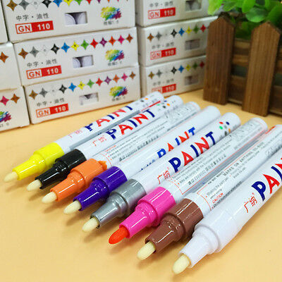 1Pc Oil Based Art Pen Permanent Universal Waterproof Paint Marker Pen 10 Colors