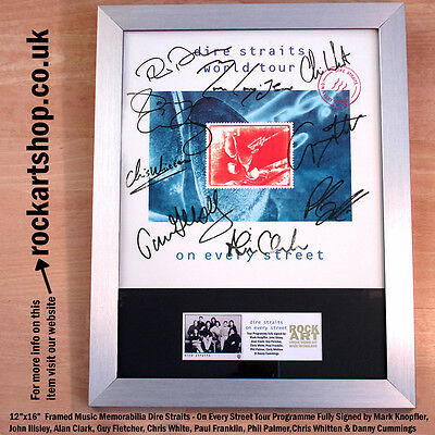 DIRE STRAITS On Every Street FULLY SIGNED BY ALL 9 MARK KNOPFLER Autographed