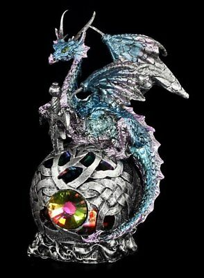 Drachen Figur LED - Balzar's Watch - Gothic Dragon Deko Fantasy