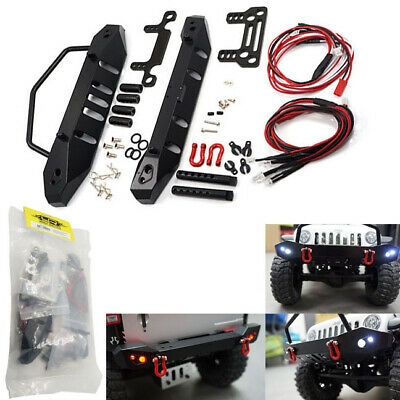 Yeah Racing YA-0431 Aluminum Front & Rear Bumper w/ LED Set for Axial SCX10