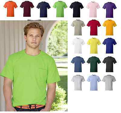 Hanes Beefy-T TAGLESS POCKET T-Shirt NEW . 100% Cotton 5190 Mens S-3XL Tee
