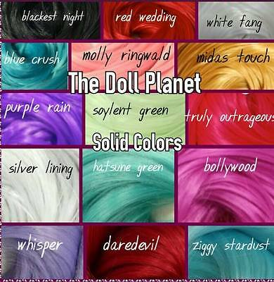 15 Color Variety Large 1oz Hank Bundle Pack Nylon Doll & Pony Hair for Rerooting