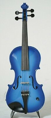 Barcus-Berry Vibrato-AE Acoustic-Electric Violin Outfit with Case - Blue