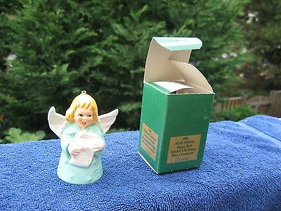 Vintage Goebel Angel Bell Christmas Tree Ornament 6th Edition 1981