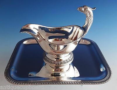 Malmaison by Christofle Silverplate Gravy Boat & Underplate Figural (#0985)