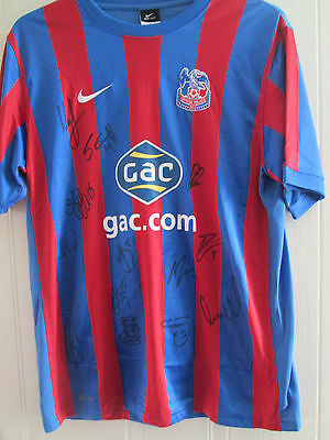 Crystal Palace 10-11 Squad Signed Home Football Shirt BNWOT FLT letter /39597