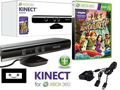 BOXED ,Kinect sensor BUNDLE , XBOX 360 with GAME and  POWER ADAPTER