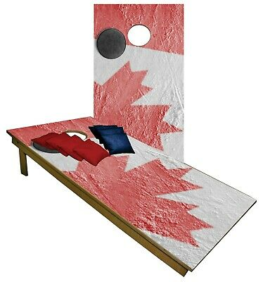 Remarkable Canada Flag Ice Rink Cornhole Boards Beanbag Toss Game W Machost Co Dining Chair Design Ideas Machostcouk