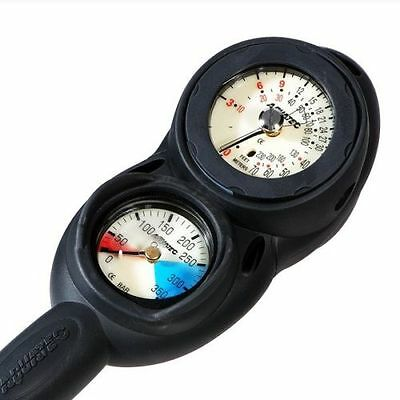 AQUATEC 2 Gauge Scuba Dive Diving Console Deepth Pressure Compass Gauge