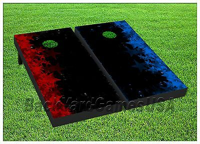 Outer Space Exploding Star Themed 2x4 Custom Cornhole Board Set w//Bags