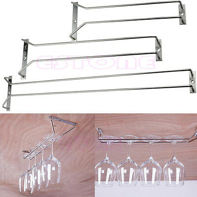 27/35/55CM Wine Glass Rack Hanging Stemware Holders Bar Under Cabinet Home New