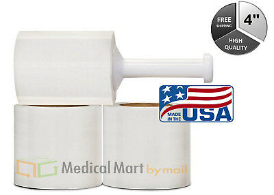 (48 Rolls) 4 Inch 100 Gauge 650' Ft Bundling Narrow Banding Stretch Wrap Film