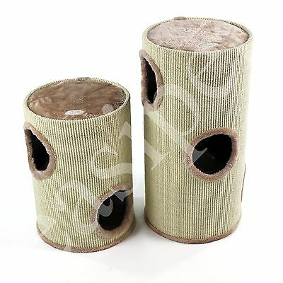 Cat Scratcher 50cm or 70cm Scratching Barrel Post Tree Activity Centre Tower Den