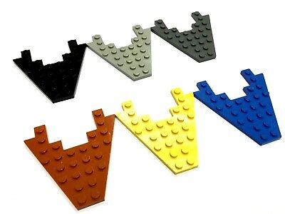 YELLOW x 4 part 4859 C47 LEGO WEDGE PLATE 3 x 4 without Stud Notches