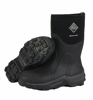 Muck Boot Arctic Sport Mid Boots Black High Performance Sport Boots ASM-000A