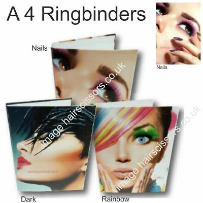 Appointment Pages & A4 Ring Binders Ringbinder Folder Hair Nails Beauty