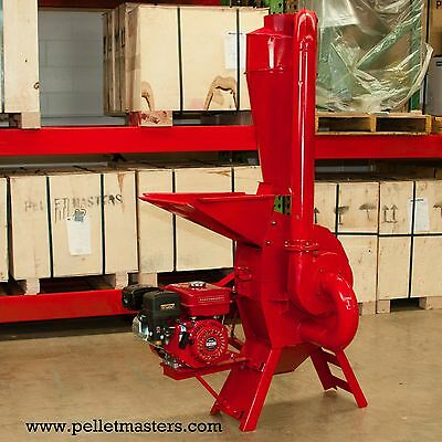 7.5 hp Gasoline Engine Powered Hammer Mill Feed Grinder w/cyclone! USA In-stock
