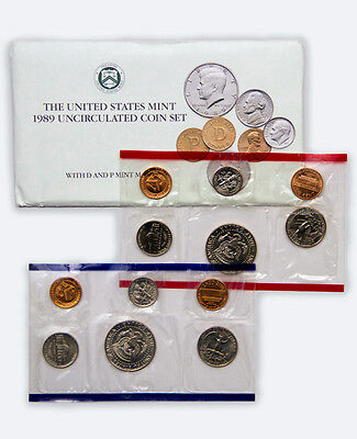 1989 United States U.S. Mint Uncirculated Coin Set SKU1395