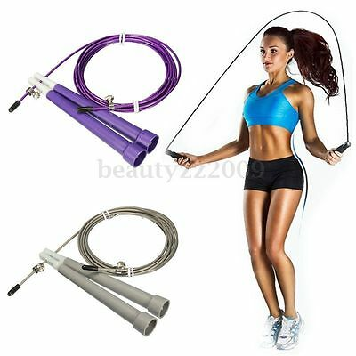 3M Adjustable Steel Wire Rope Skipping Skip Jump Ropes Crossfit Boxing