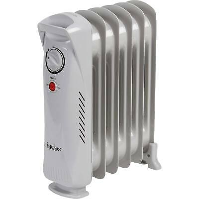 Igenix IG0500 500W Baby Oil Filled Radiator Space Heater with Thermostat White