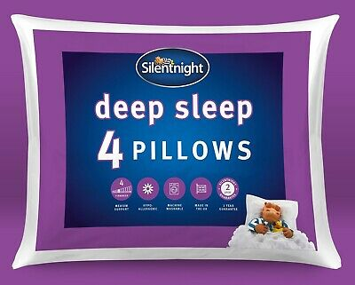 Silentnight Deep Sleep Pillow With Extra Hollowfibre Filling - 4 Pack