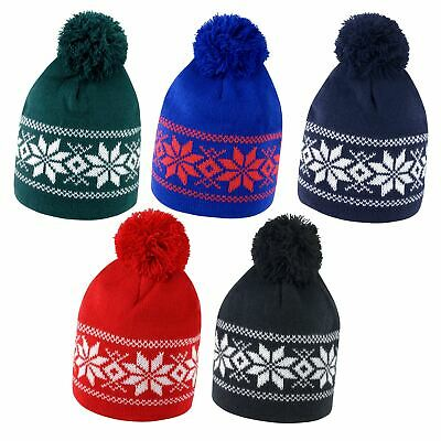 Unisex Result Fair Isle Knitted Hat Soft Warm Clothing Accessory Christmas Gift