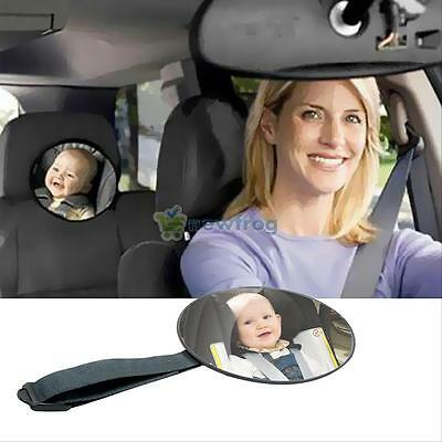 360° View Back Seat Mirror For Rear Facing Infant Kid Car Seat Safety Adjustable