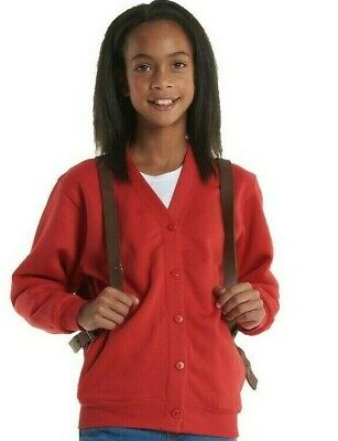 Uneek Childrens Cardigan Active UC207 9Colour 2-11//13 Yrs Work Wear Causal Top