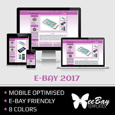 eBay Listing Template HTML Professional Mobile Responsive New Design 2017 *5