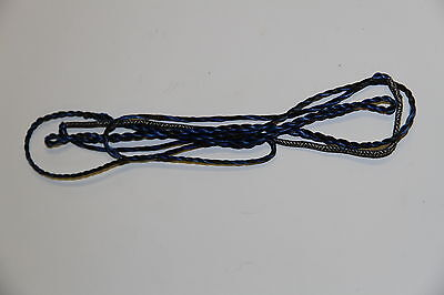 "1473 Bearpaw-Bodnik Custom Whisper String 52"" Bow Size, 08 Strands, Black/blue"