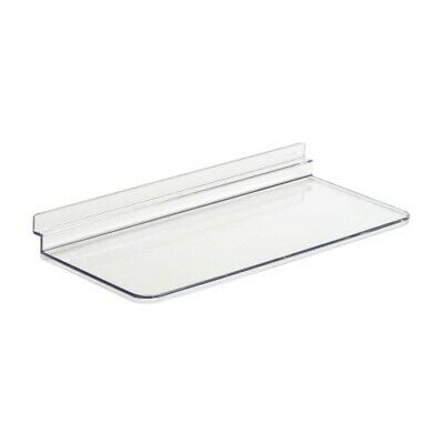 20 x CLEAR MOULDED SLATWALL SHELF FOR SHOES JEWELLERY 250mm x 100mm (G9CH)