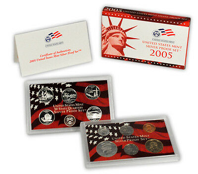 2005 United States US Mint 10 pc Silver Proof Set SKU1466
