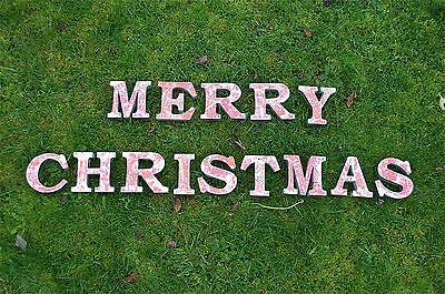 Fantastic Retro 3 Dimensional Lettering Merry Christmas Sign Letters Letter Font