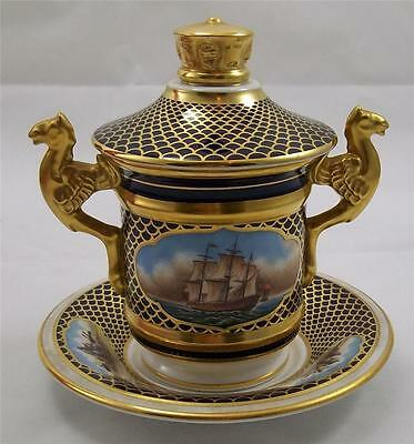 Spode - The Shipwright's Cup  lid and stand - No 187 of 500 Mint & Boxed Naval