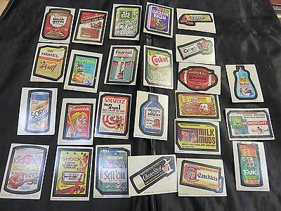 Vintage Wacky Packages Sticker Trading Card Set  - 25 Stickers
