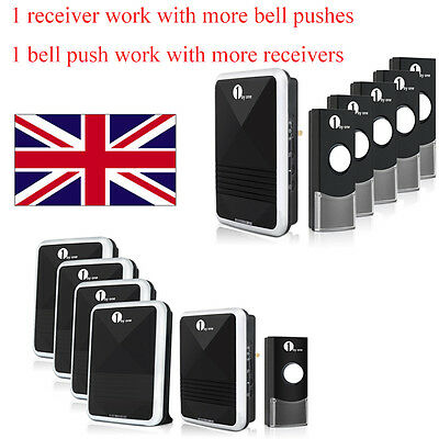 1byone Wireless Cordless Visitors Plug-in Home Doorbell Waterproof 36 Tunes 100M