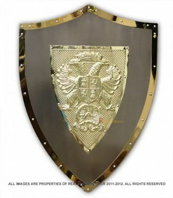 """24"""" Medieval Knight Lion Knights Shield Armor with Sword Holder Brand New"""
