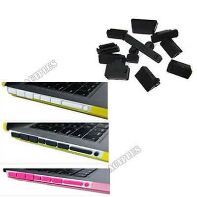 Silicone USB HDMI Port Anti Dust Plug Cover Stopper For Laptop Notebook 13Pcs HY
