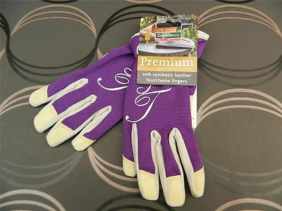 Town & Country Vegan Soft Synthetic Leather & Spandex Gardening Gloves.