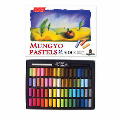Mungyo Non Toxic Soft Pastels Set of 64 Colors Square Chalk with Tracking Number