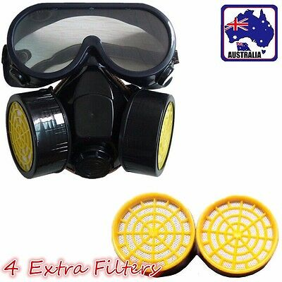 Dual Cartridge Respirator Dust Paint Mask With 6 Filters TMASK02+TMASK0002x4