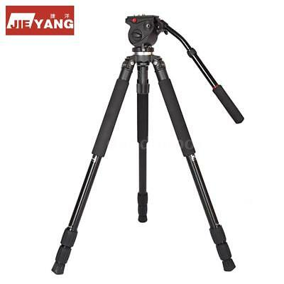 JY0509A Aluminum Video Tripod Stand with Fluid Drag Head f.DSLR Camera Camcorder